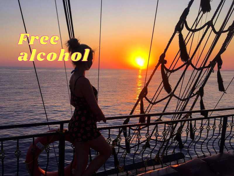 Закат Солнца и Пенная Вечеринка на Яхте BIG KRAL в Алании из Сиде
