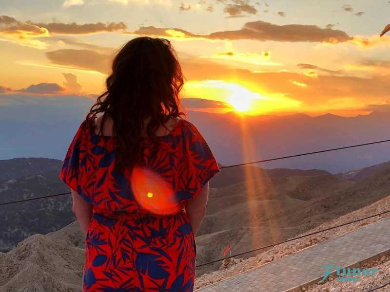 Закат солнца на горе ОЛИМПОС ТАХТАЛЫ в Кемере