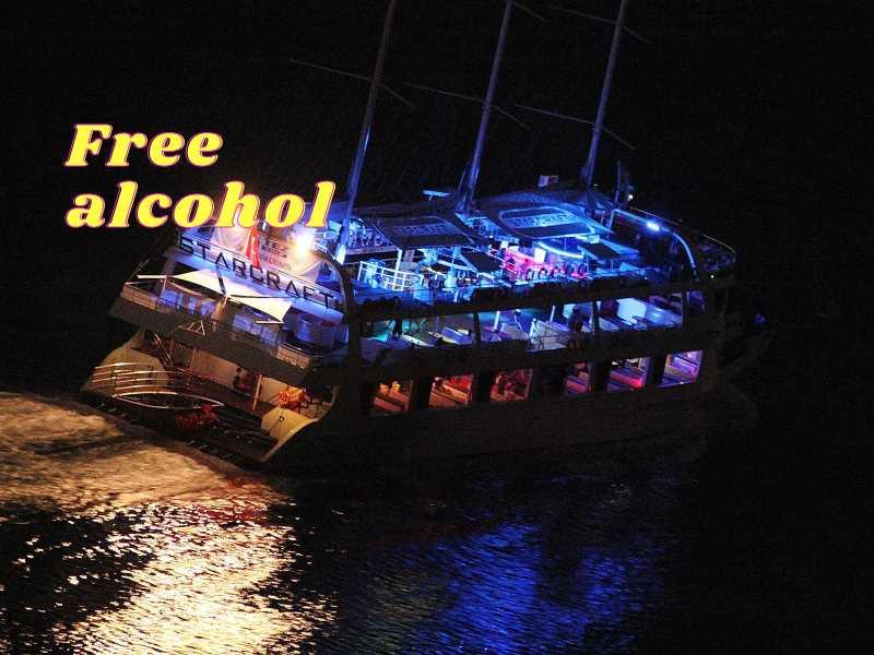 Ночное Диско на Яхте STARCRAFT в Алании из Сиде