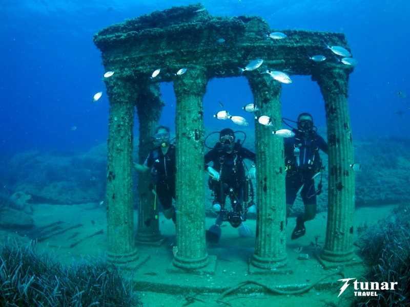 Дайвинг в подводном Музее в Сиде